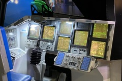 Shuttle commander cockpit station